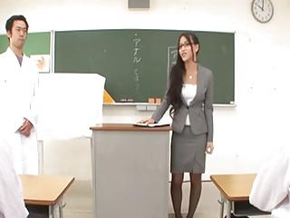 Teacher Ren Azumi gives..