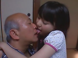Pretty Asian teen with..