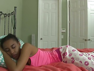 Sleeping ebony chick..